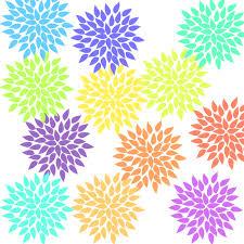 Starburst Design Clip Art 12 Pastel Hydrangea Clip Art Flower Graphics Clipart For