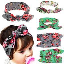top knot headband baby kids rabbit ears bow turban knot headband diy hair band