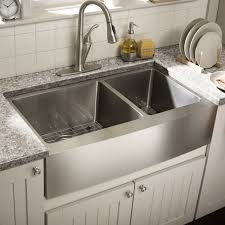 Kitchen Country Sinks Ideas Sophisticated Gorgeous Stainless Steel Twin Sink Kitchen