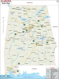 Map Of Usa Capitals by Alabama State Map