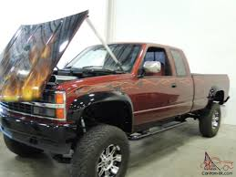chevy k2500 lifted show truck custom paint fresh 454 bbc