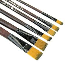 Make Up Artist Supplies Delta Brush Co Dominican Artist Paint Brush Lot Of 7 Style 1126
