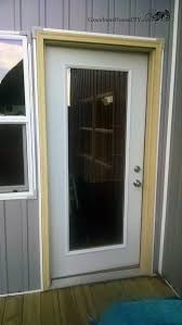 modifying a new screen door to fit on a modern exterior door with