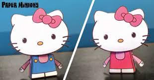 kitty paper minions paper toys kitty kitty