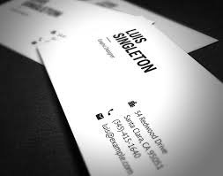 free clean and minimal business card template on behance