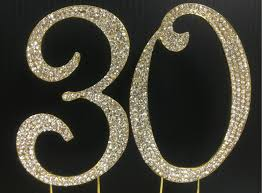 rhinestone number cake toppers gold rhinestone number 30 cake topper 30th birthday