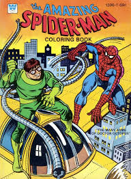 amazing spider man coloring book sc 1970 1980 whitman comic books
