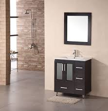 Vanities For Bathrooms Adorna 32 Inch Single Drop In Sink Bathroom Vanity Chestnut Color