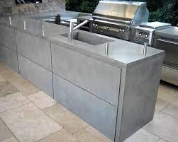 cuisine exterieure beton plan de travail exterieur en beton newsindo co