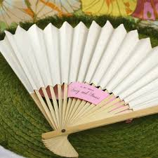 wedding fan favors paper wedding fans