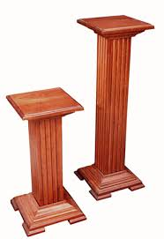 Plant Pedestal Cherry Pedestal Plant Stand Amish Furniture Factory Amish