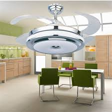 Ceiling Lights For Living Rooms by 2017 Invisible Retractable Blades Chrome Ceiling Fan 42 Inch