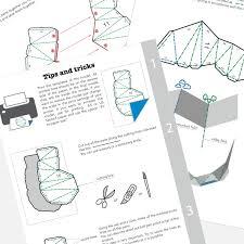 printable diy template pdf rhino low poly paper model 3d paper