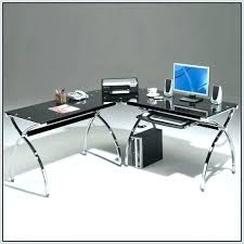 Office Depot L Shaped Desk Glass Desk Office Depot Z Line Glass Top L Shaped Desk Black