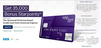 my starwood preferred guest american express application