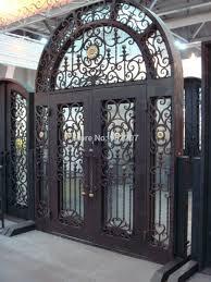 Front Door Security Gate by Front Door Iron Gate Designs Wrought Security Gates Custom Design