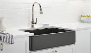 decorating brown kitchen cabinets with white kohler sinks and