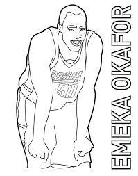 basketball coloring pages nba emeka okafor is nba player coloring page color luna