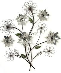 silver flowers metal wall silver flower branch