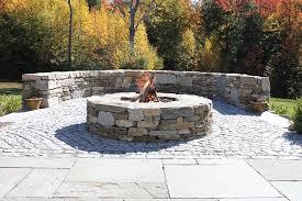 Round Brick Fire Pit Design - square or round building a fire pit that suits your landscape