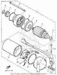 yamaha xj750 maxim 1983 d usa starter motor schematic partsfiche
