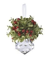 christmas mistletoe acrylic christmas mistletoe ornament with hanger