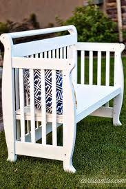 repurposing furniture crib to bench tutorial guest post u2013 country chic paint blog