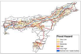 Flood Map Updated Flood Hazard Atlas For Assam State Isro