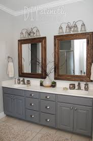 what color goes with brown bathroom cabinets painted bathroom cabinets gray and brown color scheme