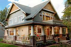prarie style homes craftsman style home with a wrap around porch image on