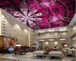 beibehang wall paper european luxury art flowers ceiling roof