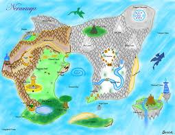 Narnia Map Nermanya World Map By Snowbound Becca On Deviantart