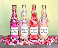 candy valentines candy bottles diy heart arrows gift favor ideas