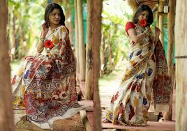 Home Design Story Pc by Buy Kalamkari Silk Saree A Story Of Swans Pc 21388