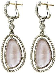 judith ripka earrings judith ripka sterling silver de pink of