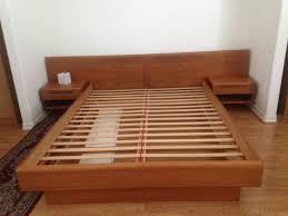Platform Wood Bed Frame Modern Platform Bedroom Sets Log Bed Frame California King