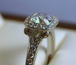 vintage cushion cut engagement rings of the week custom halo with antique style cushion cut