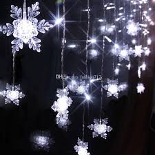 snowflake string of lights 4m 120led 20p snowflake curtain string lights ice bar strip holiday