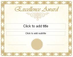 Free Certificate Of Excellence Template Golden Excellence Award Certificate Template