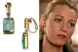 gossip girl earrings lively s green earrings on gossip girl tv fashion