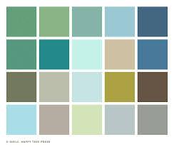 1950s color scheme little sunny studio color palette 1950s