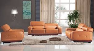 modern leather 3 piece set elegance decor