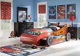 cars lightning mcqueen black 8 pc bedroom