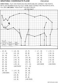 coordinate plane graphing free math graphing lesson connect the points to create a picture