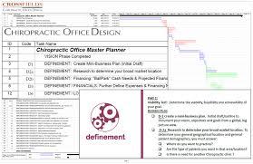 custom goal setter timeline chiropractic office design