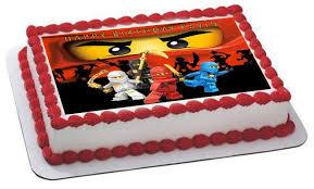 ninjago cake lego ninjago 2 edible birthday cake or cupcake topper edible