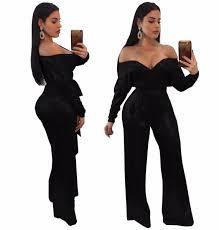 plus size bodycon jumpsuit adogirl 2018 bodycon jumpsuits shoulder plus size 3xl rompers