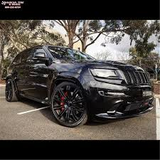 black jeep black rims jeep grand cherokee kmc km677 d2 wheels gloss black