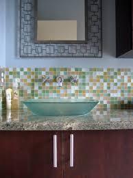 Tile Bathroom Backsplash 30 Amazing Ideas About Framing A Bathroom Mirror With Glass Tile