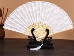 wholesale fans wholesale free shipping 50pcs lot bamboo white lace fan